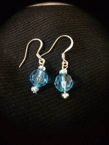 Acrylic Crystal Blue Earrings