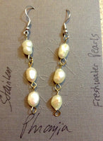 Freshwater Pearls Dangle Earrings