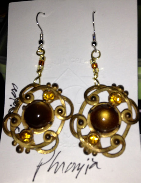 Large Cat's Eye Earrings