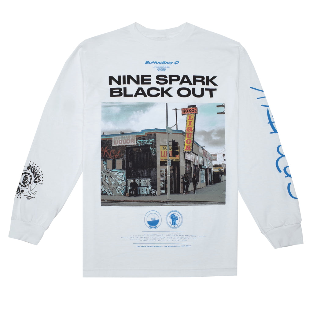 Nine Spark L/S T-Shirt (White)