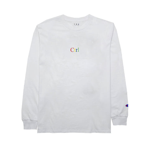 Ctrl L/S T-Shirt (White) - PRE-SALE: ORDER WILL SHIP OUT BY JULY 10