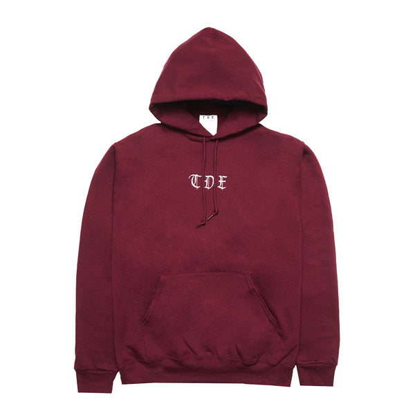 Old English TDE Hoodie (Maroon)