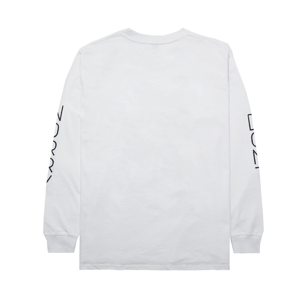 Don't Worry Long Sleeve T-Shirt (White)