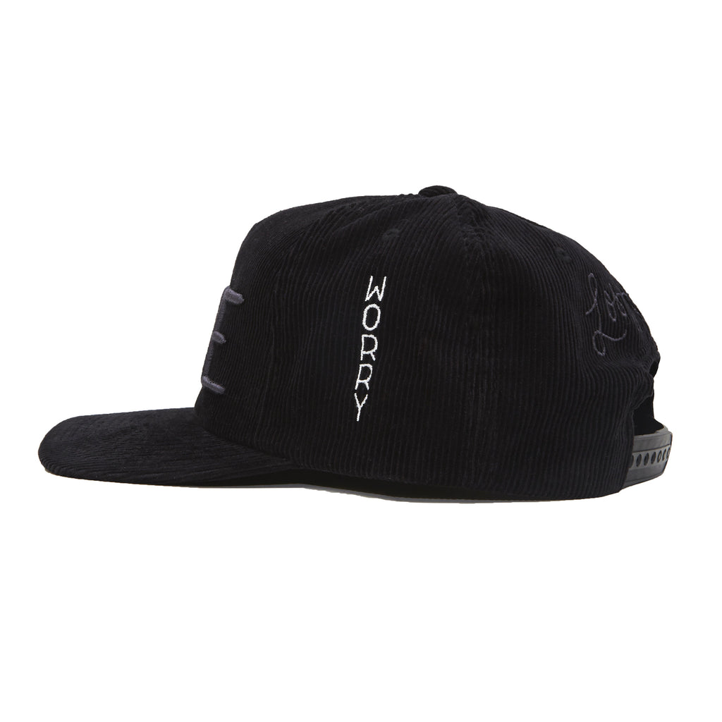 Don't Worry Corduroy Hat (Black)