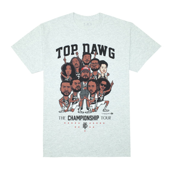 TDE Championship Tour Cartoon T-Shirt (Grey)