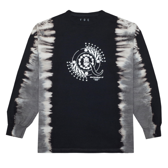 CrasH Talk Tie Dye L/S T-Shirt (Black)