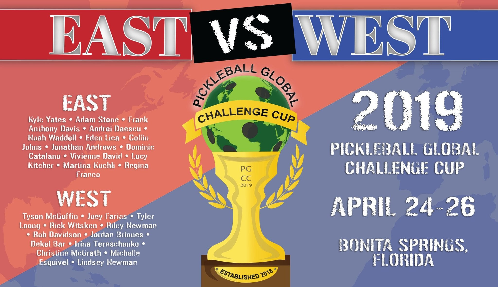 East Vs. West Pickleball Global Challenge Cup 2019
