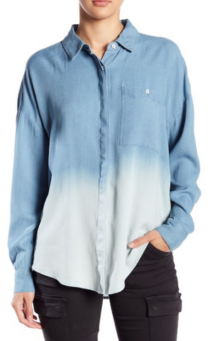 Ombre Denim Button-up