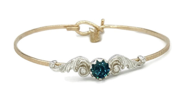 Angel Wings Birthstone Colors Bracelet