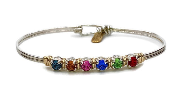 Custom Mothers Birthstone Bracelet Mid-Sized - Earth Grace Artisan Jewelry