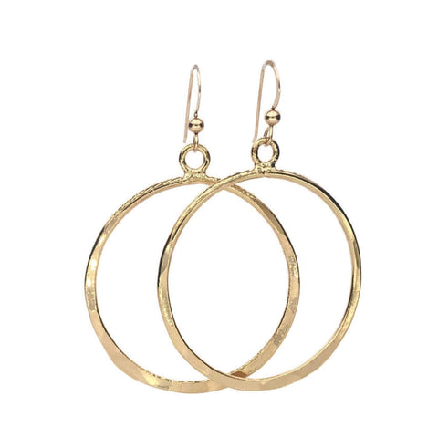 Medium Hammered Hoops - Earth Grace Artisan Jewelry
