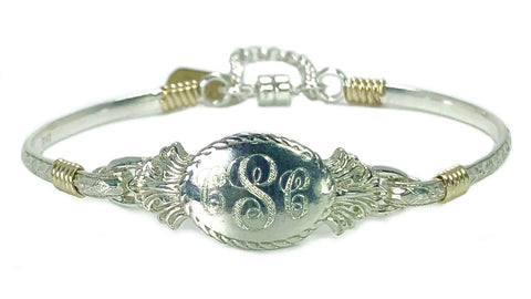 Petite Oval Engraved Bracelet - Earth Grace Artisan Jewelry