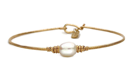 Serenity Pearl Bracelet - Earth Grace Artisan Jewelry