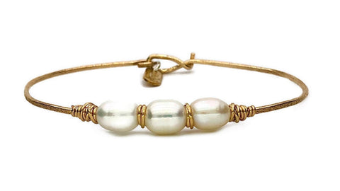 Trinity Pearl Bracelet - Earth Grace Artisan Jewelry