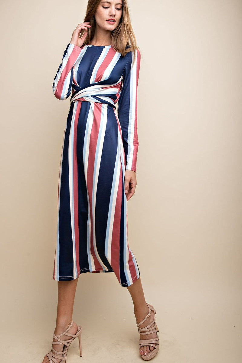 Alexandria Striped Dress