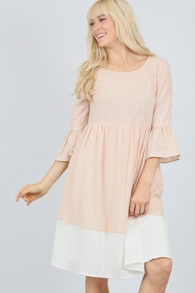 Peachy Summer Midi Dress