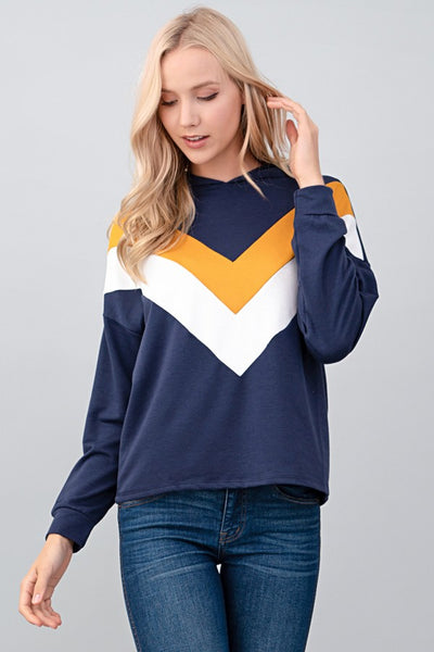 Navy Sweat Top