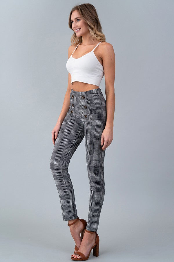 Black Houndstooth Pants