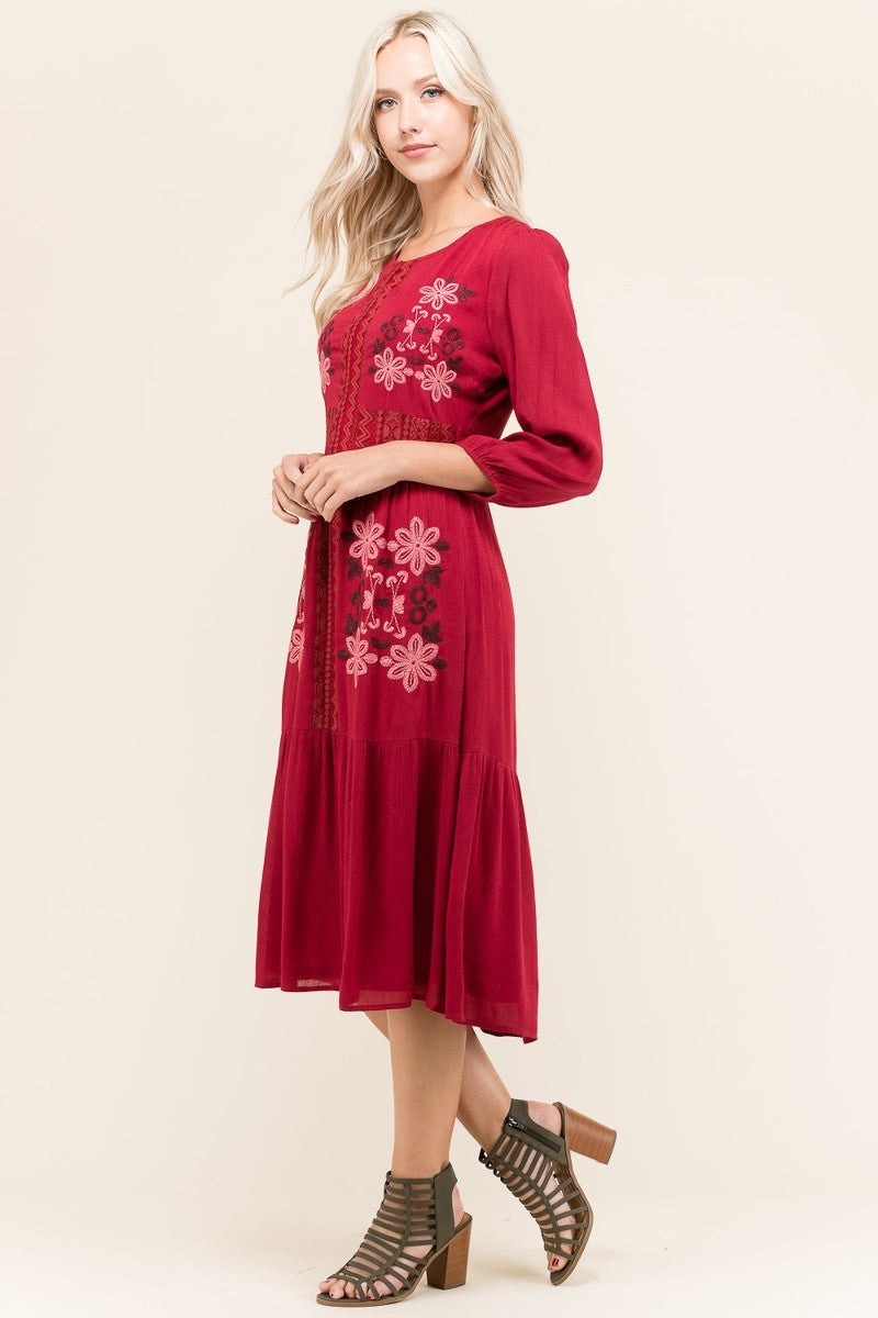Emma Embroidered Dress