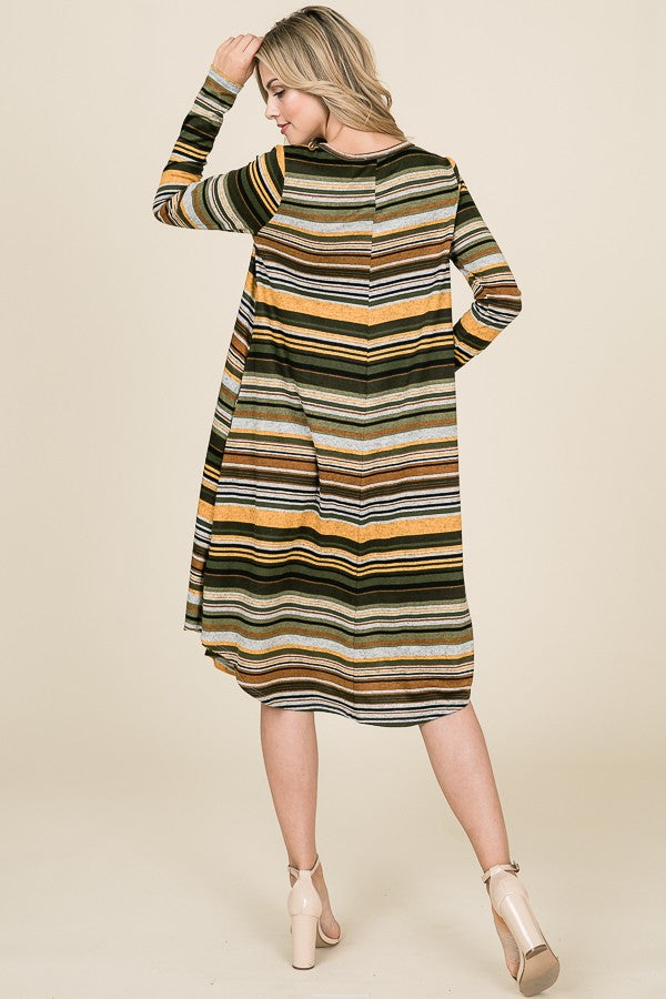 Harrison Striped Swing Dress
