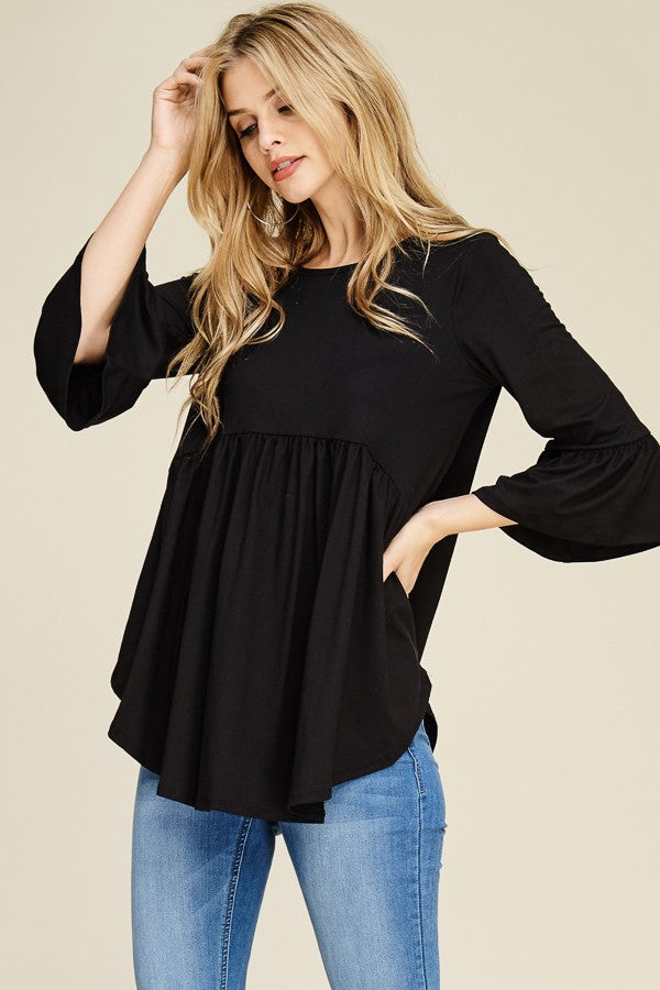 Black Belle Tunic-Curvy