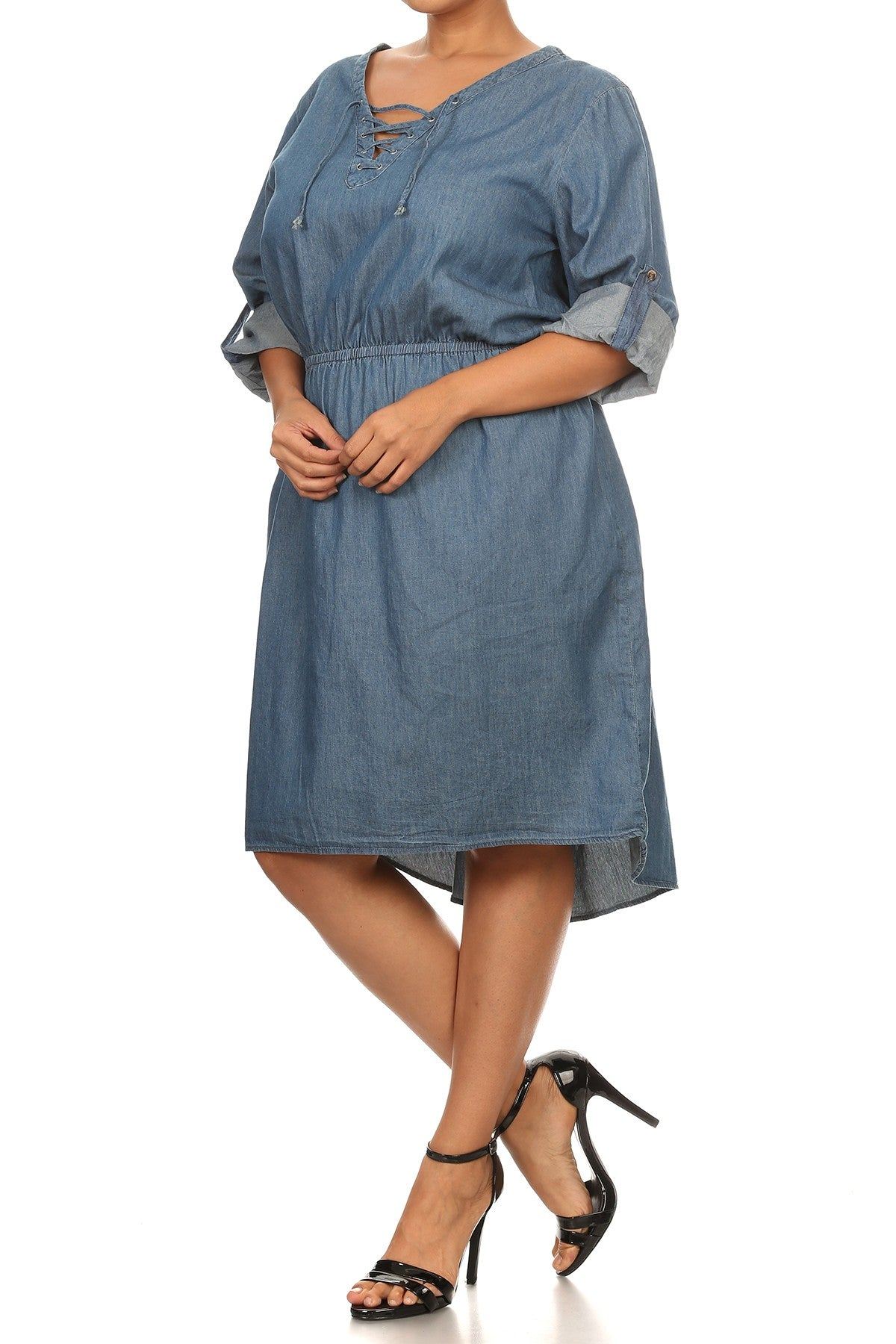 Denim Cinch Dress