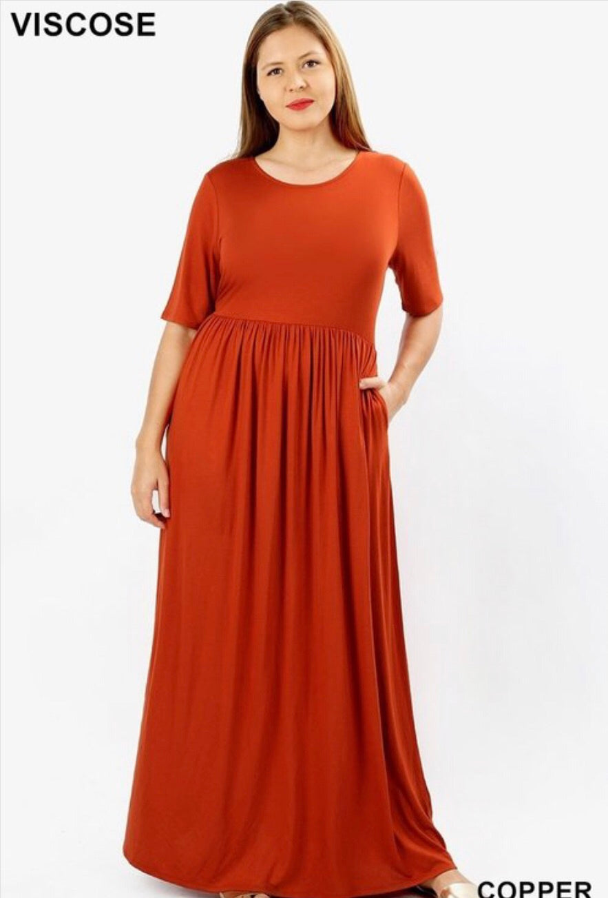 Copper Maxi Dress