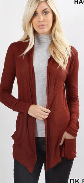 Dark Rust Cardigan