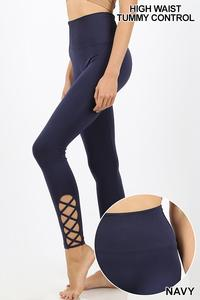 Navy Lattice Leggings