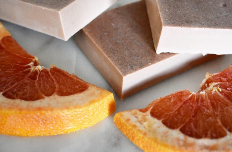 Grapefruit Pink Clay Soap Bar