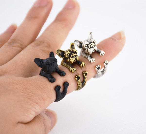 Bulldog Ring Cute Animal