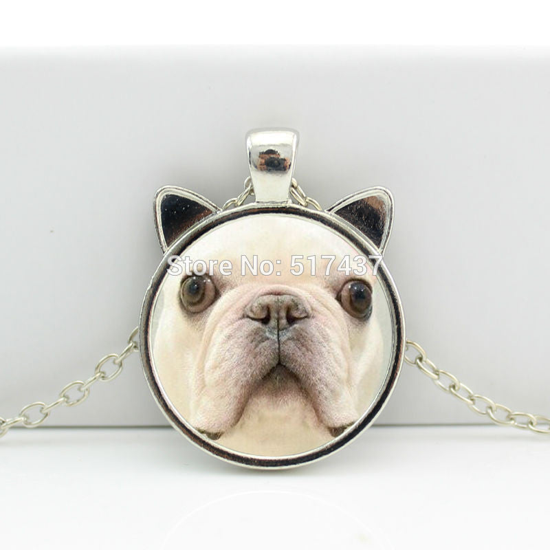 Bulldog Pendant Glass Jewelry