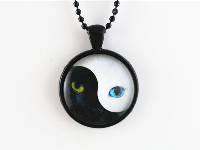 Yin Yang Kitty Pendant Necklace