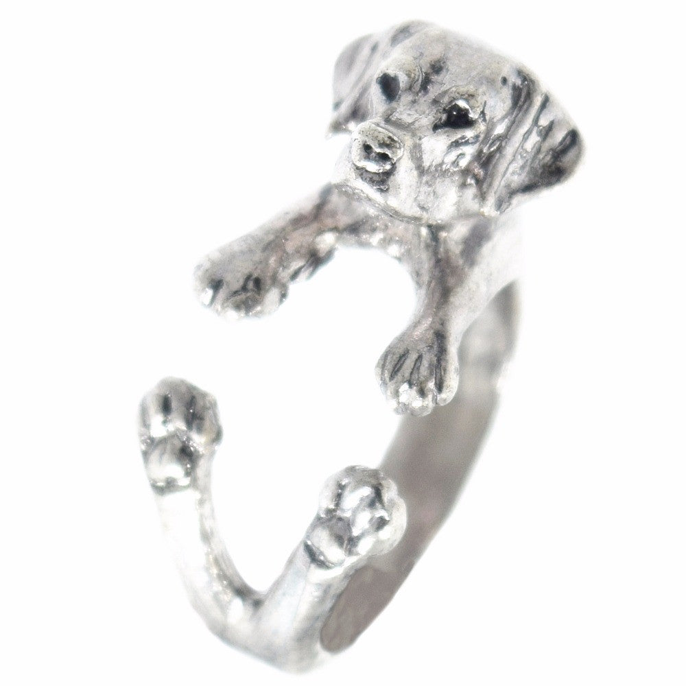 Silver Labrador Wrap Ring