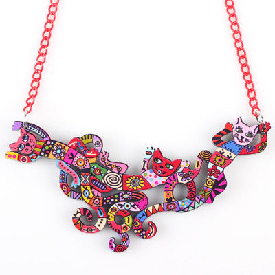 Autumn Winter Animal Multi color Necklace