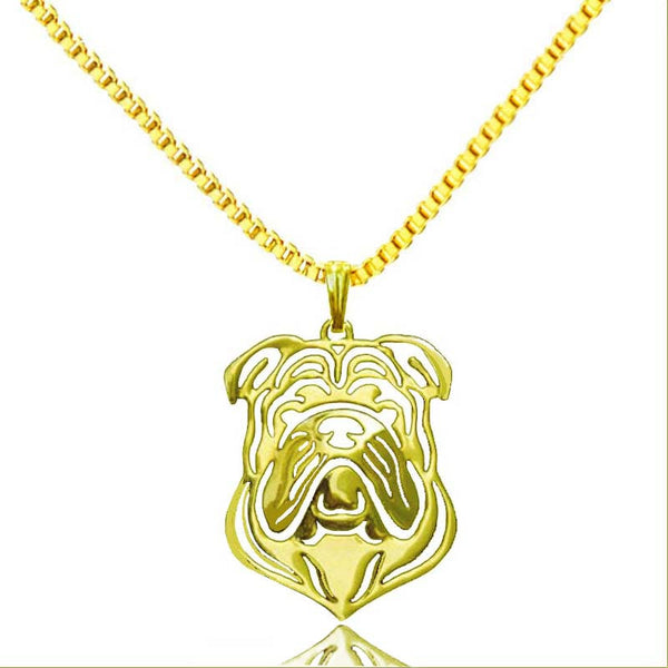 Bulldog pendant 18K gold plated
