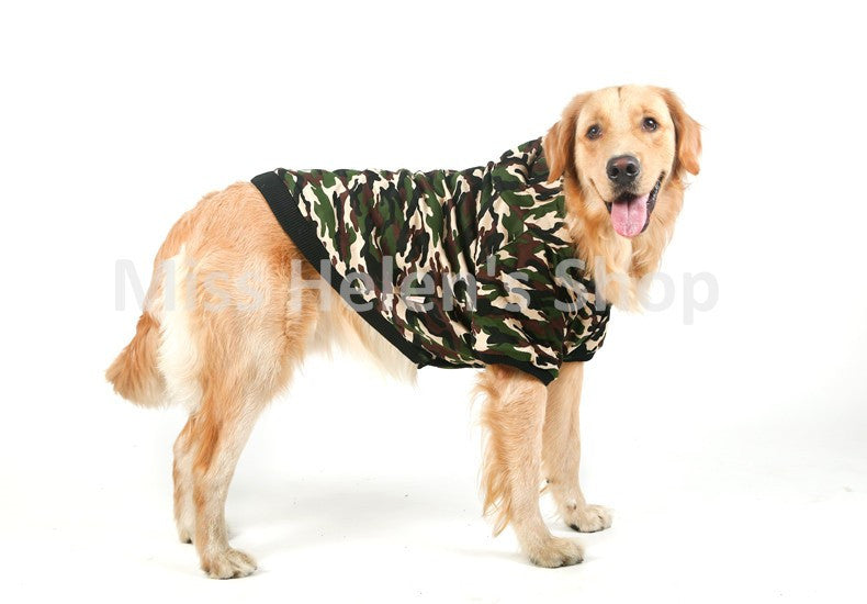 Camo Coat Pet Warm Winter
