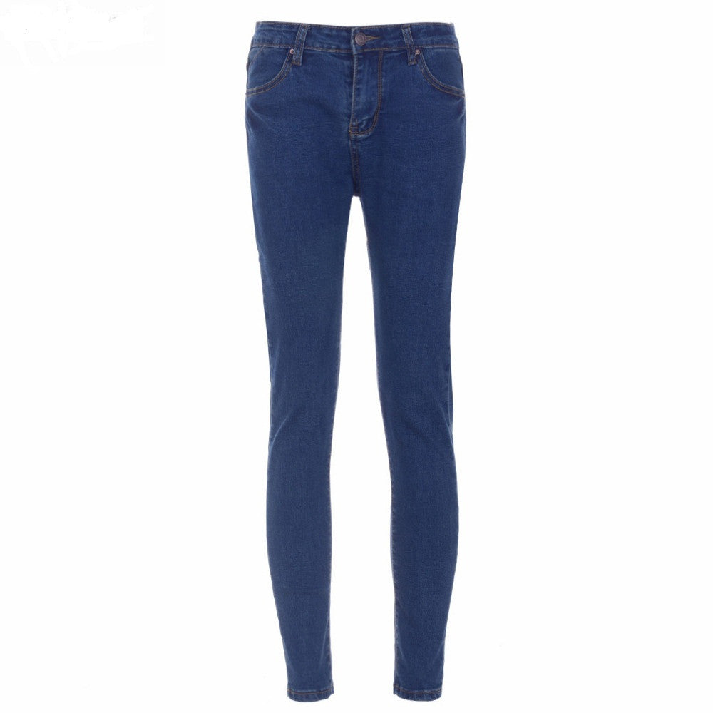 Casual Mid-waist Denim Jeans