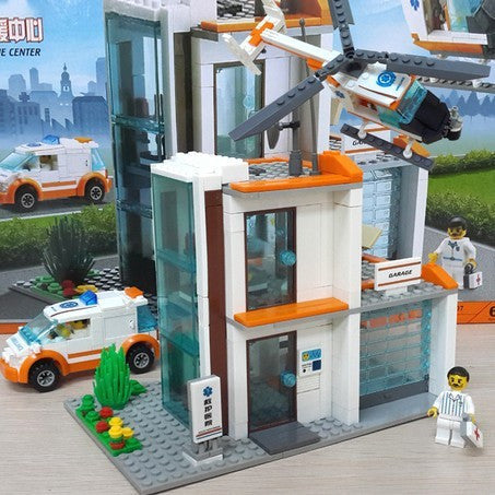 City Hospital Rescue Center Brick Toys