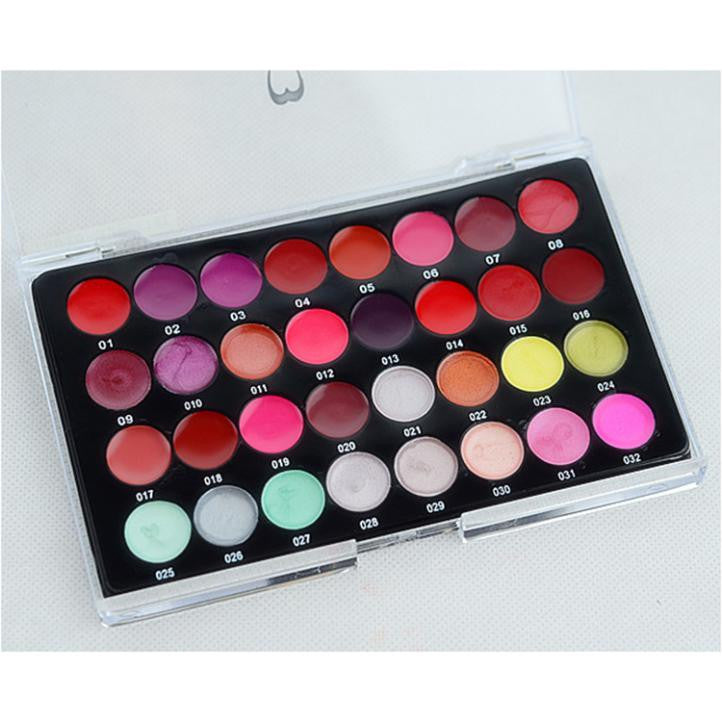 32 Color Lip Gloss Make Up