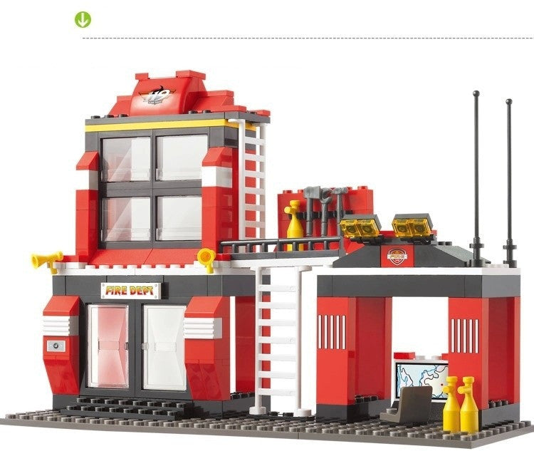 Lego City Fire Station Truck Helicopter