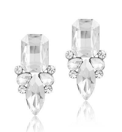 Classic Shiny Crystal Stud Earrings