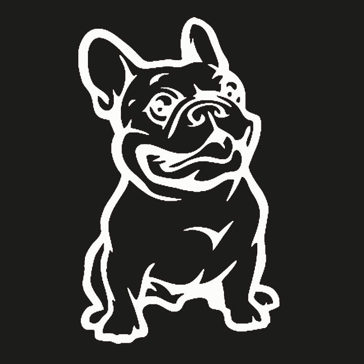 French Bulldog Dog Car Sticker Vinyl