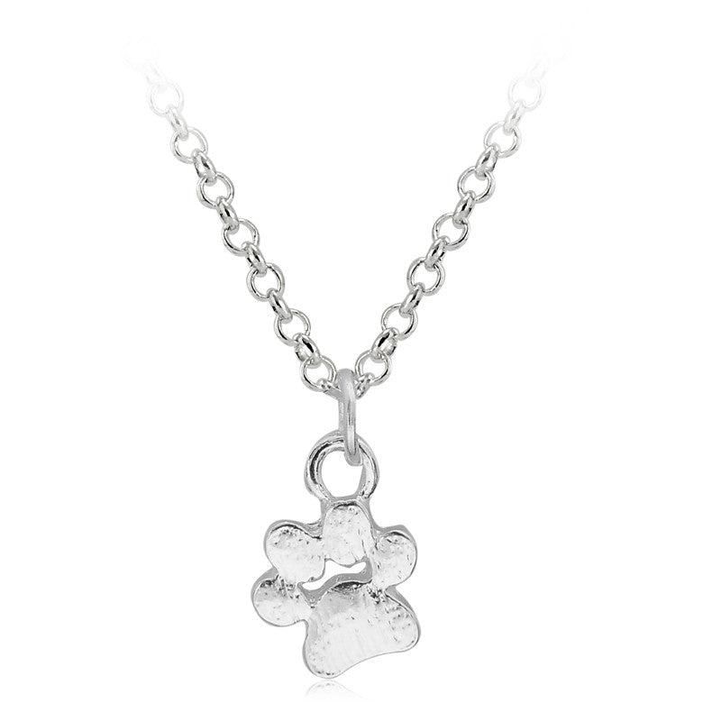 Paw Prints Pendant Necklace