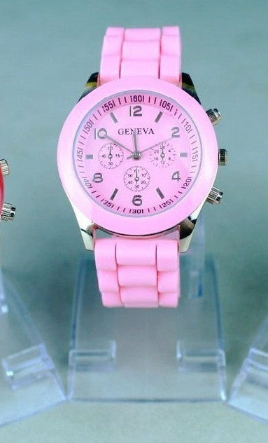 Unisex Rose Gold Silicone Sports Watches