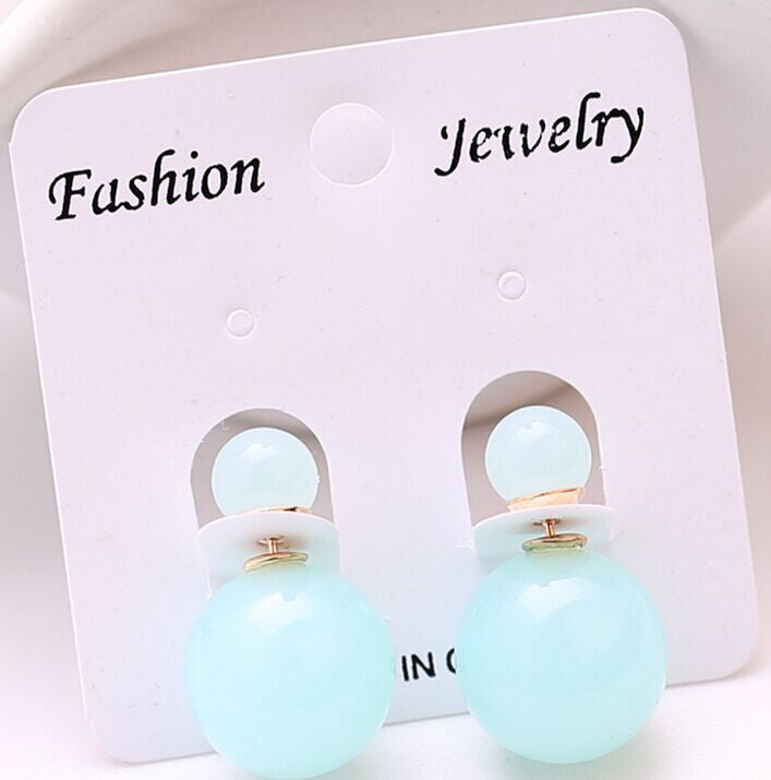 Double Side Simulated Pearl Earrings