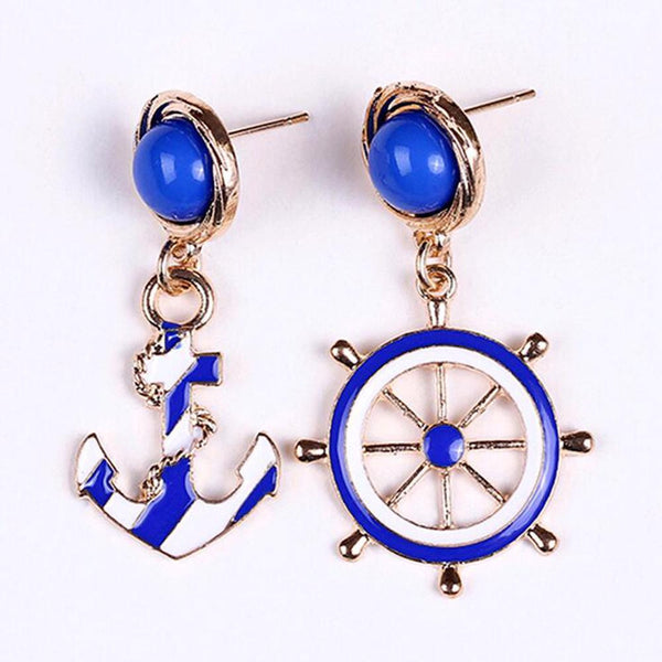 Personality Style Anchor Earrings