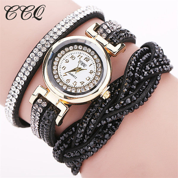 Luxury Rhinestone Bracelet Ladies Quartz