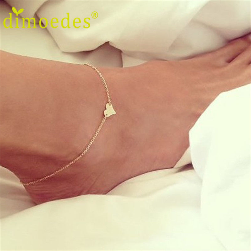 Sweet Simple Heart Shape Anklet Chain