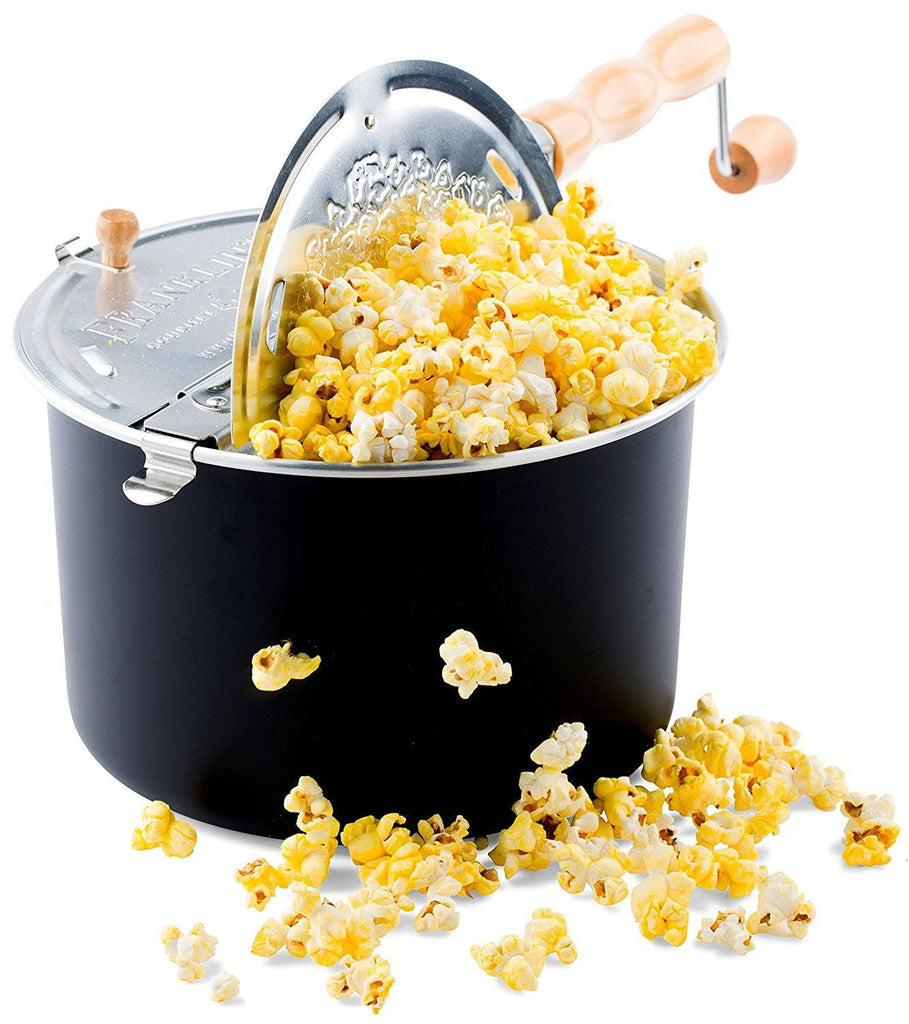 Popcorn Machines - Franklin's Whirley Pop Stove Top Popcorn Maker